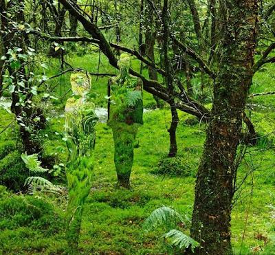 Escultura hechas con vidrio y acrílico