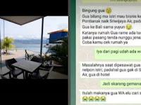 Ngaku ke Pontianak Naik Sriwijaya Air, Ternyata ke Bali dengan Selingkuhan
