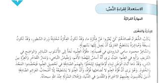 حل درس قوة العلم لغة عربية صف سابع فصل ثاني