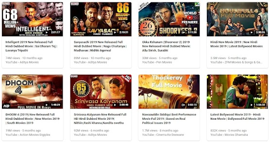 2019 Hindi film Collection 2019 year touch and Play your favourite film