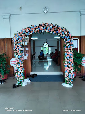 Church Wedding Entrance Decoration Works Kerala