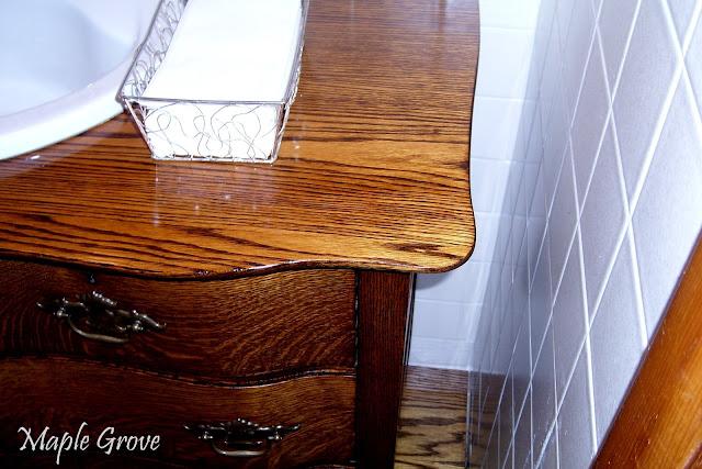 Maple Grove Antique Dresser Turned Vanity
