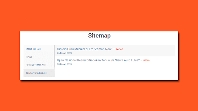 Cara Membuat Halaman Sitemap LinkMagz