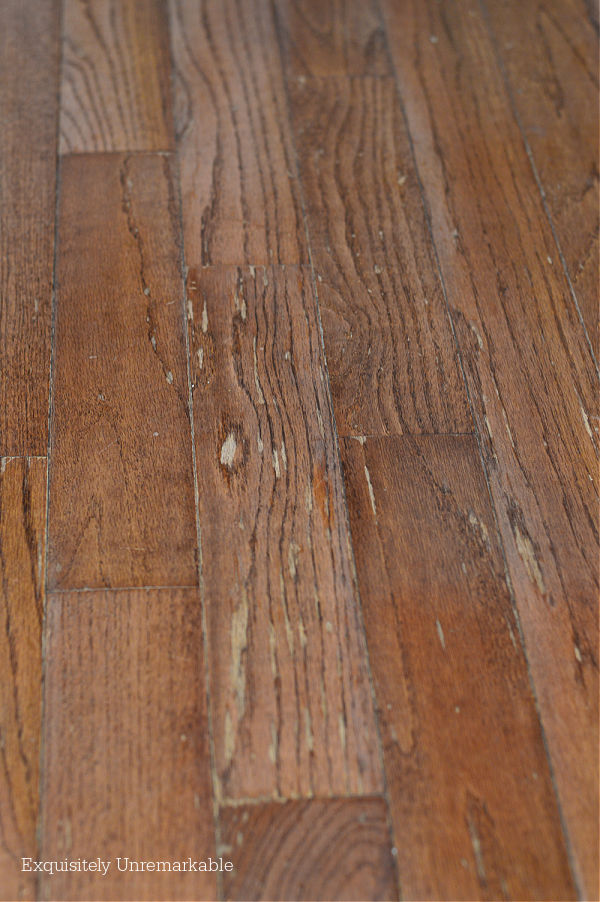 Damaged Wood Floor