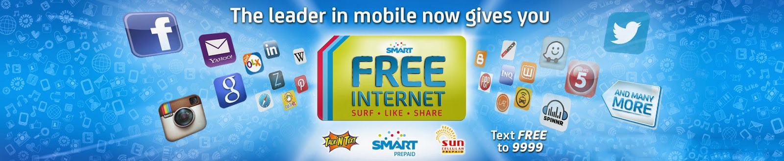 Free Mobile Internet Access for Smart, TNT and Sun Cellular Subscribers