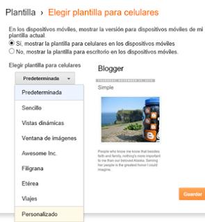 Como Activar Plantilla para moviles en Blogger