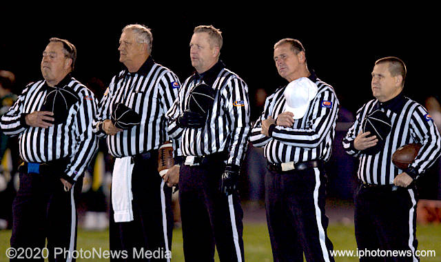 Brian Parke, Clint Howard and three other referees