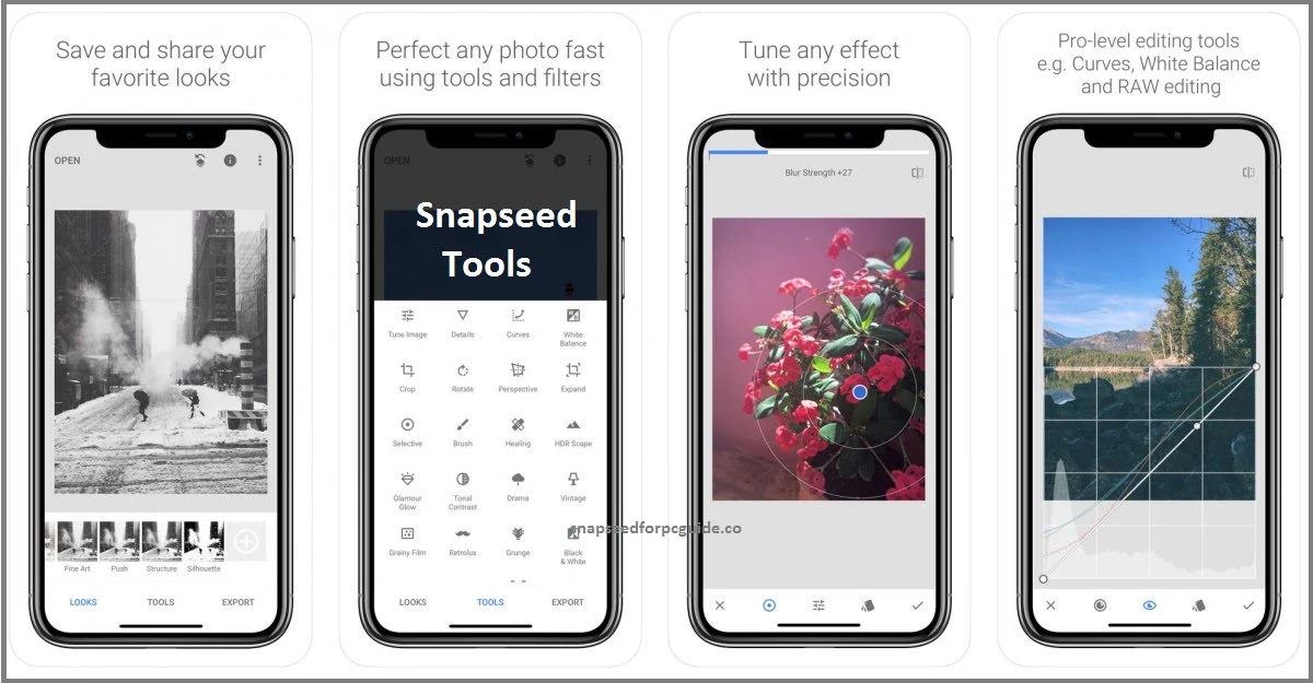 snapseed ios features