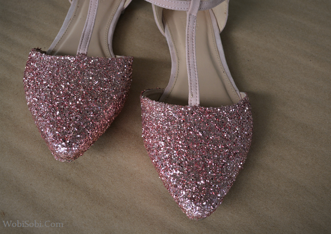 Pink Sparkly Shoes Flats