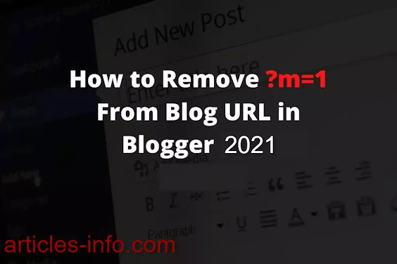 Remove ?m=1 from URL in blogger, Code for fix  ?m=1 problem