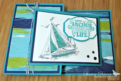 Rhapsody in Craft, Sailing Home, Smooth sailing dies, Old World Paper 3D EF, Fancy Fold, Double Open Joy Fold Card, Artistry Bloom DSP,Stampin' Up 2020-21 Annual Catalogue