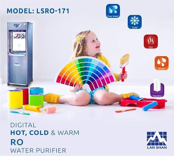 Digital Hot Cold Warm Lan Shan LSRO-171 RO Purifier.বিশুদ্ধপানিপানেসুস্থথাকুকজীবন ICDDRB থেকেপরীক্ষিত, ফুটানোওঢালারঝামেলাছাড়াই১০০ভাগবিশুদ্ধপানিরনিশ্চয়তাদিতেবাজারেনিয়েএলোরিভার্সঅসমোসিস (R.O) সিস্টেমেরওয়াটারপিউরিফাইমেশিন।