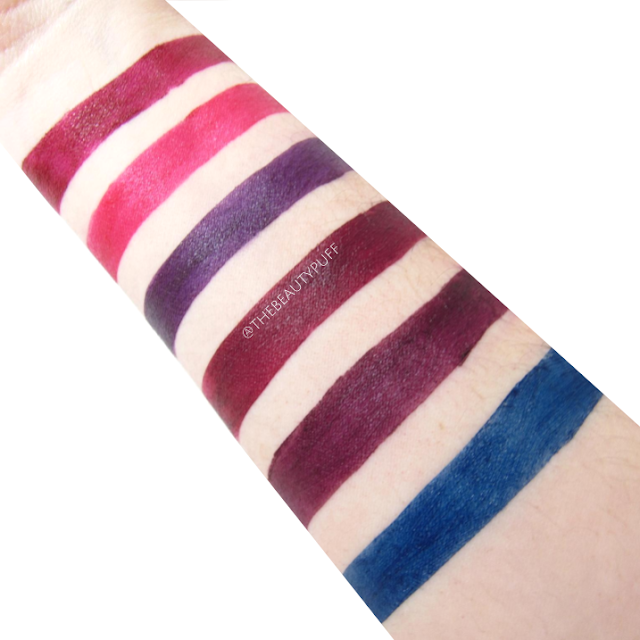 nyx soft matte lip cream vault swatches - the beauty puff