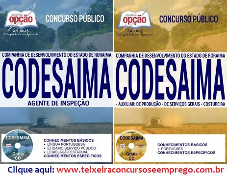 Apostila Concurso Codesaima 2017