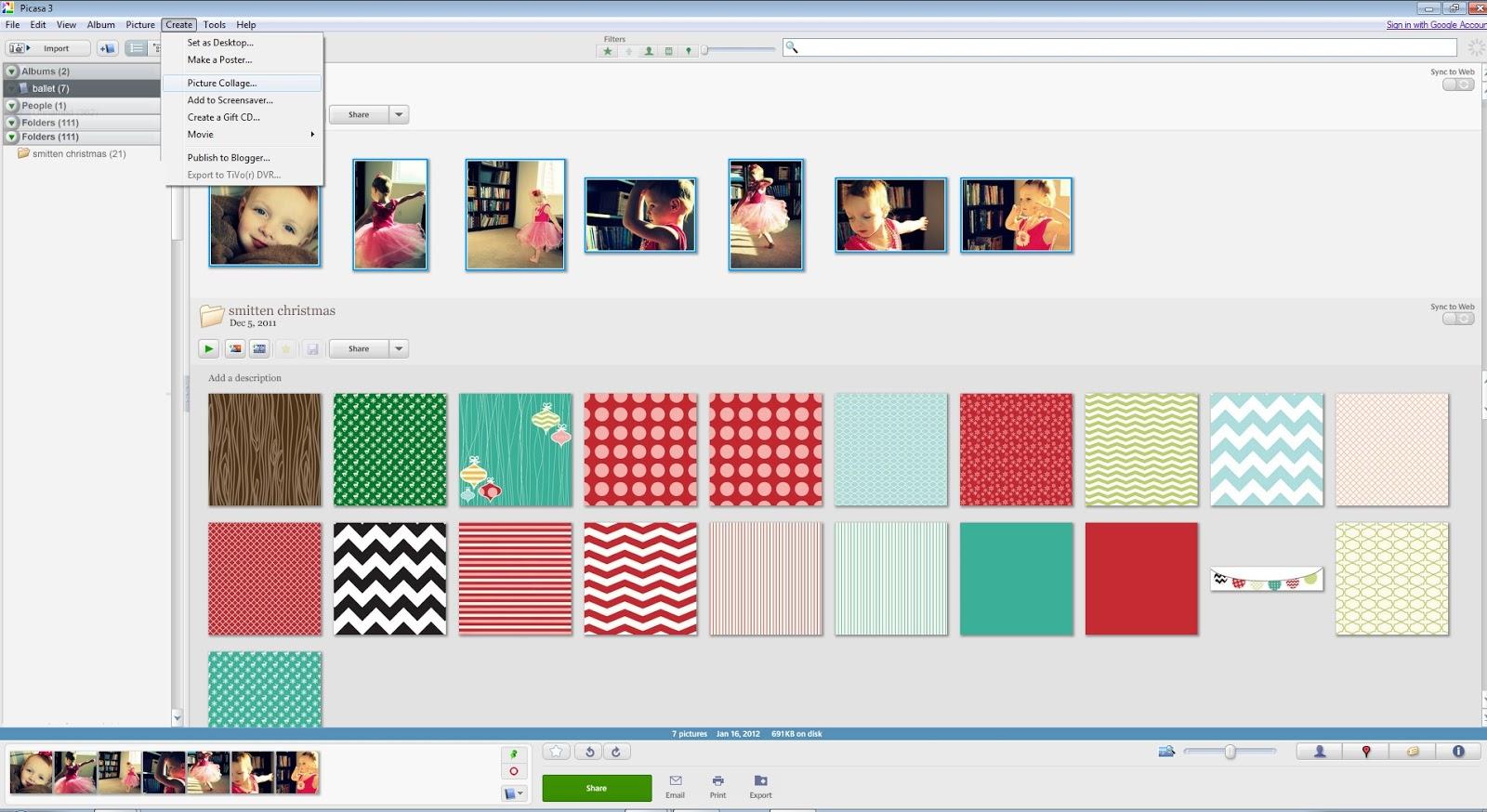 Picasa Collage Maker