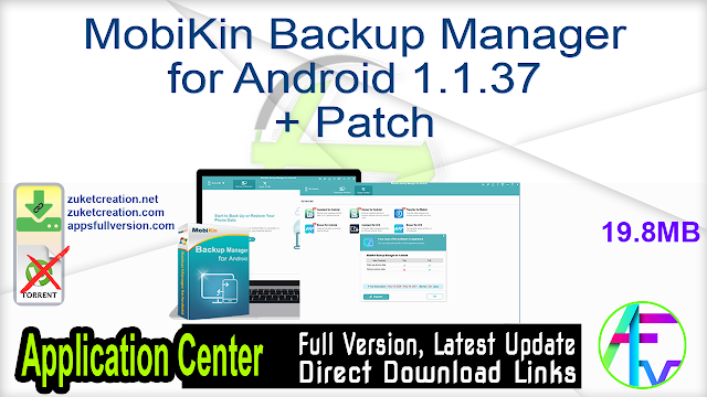MobiKin Backup Manager for Android 1.1.37 + Patch