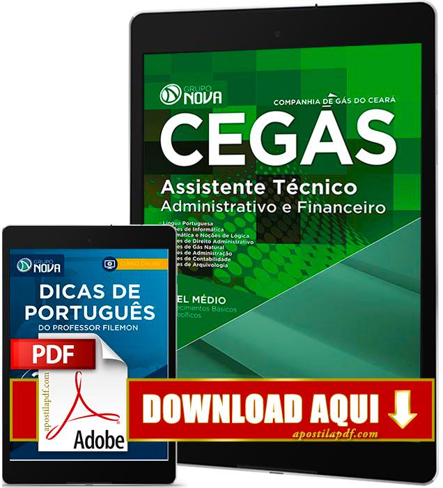 Apostila CEGÁS 2016 PDF Download Assistente Técnico Administrativo e Financeiro