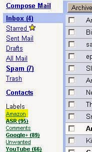 Label list in Gmail