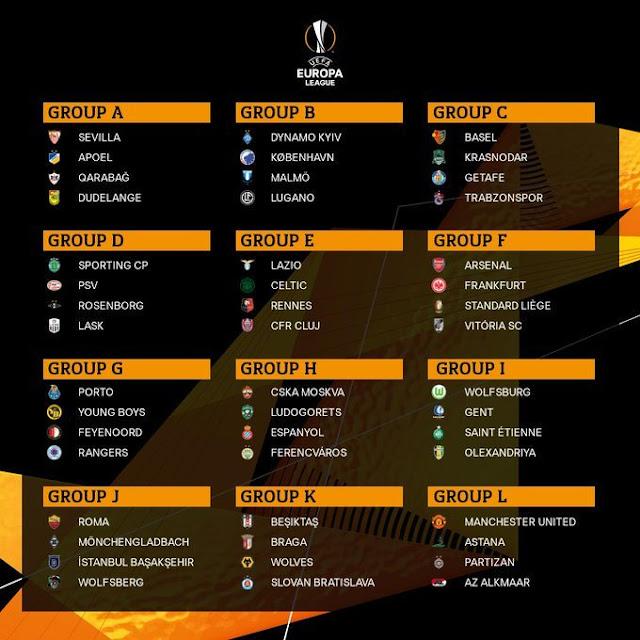 grupos europa league 2019