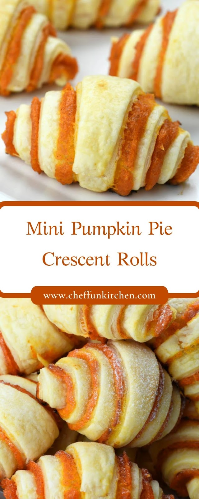 Mini Pumpkin Pie Crescent Rolls