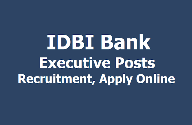 IDBI Bank Executive Posts Recruitment