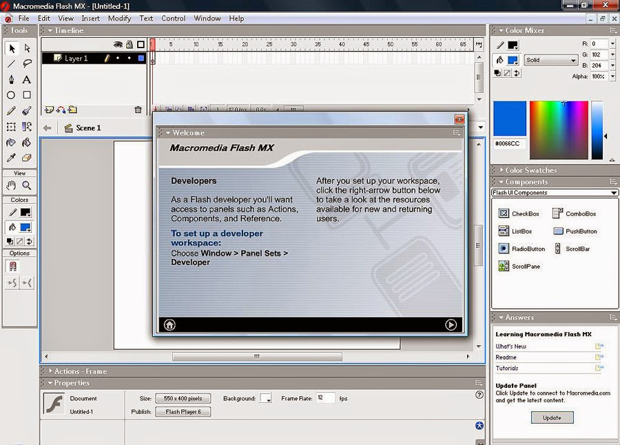 Flasn MX Web Authoring Tool