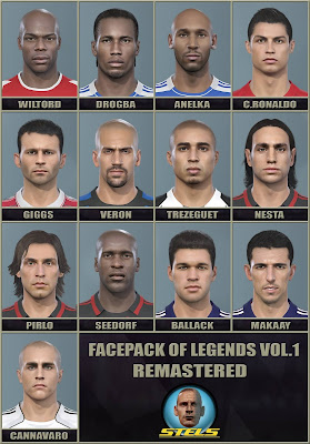 PES 2019 Facepack Legends v1 Remastered by Stels