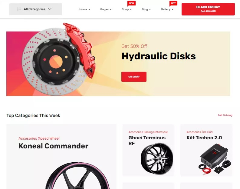 Marketo WordPress Theme auto parts demo