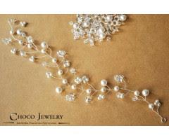 ślubna wpinka do włosów wpinka do włosów z kryształkami Swarovski biżuteria ślubna oryginalne akcesoria