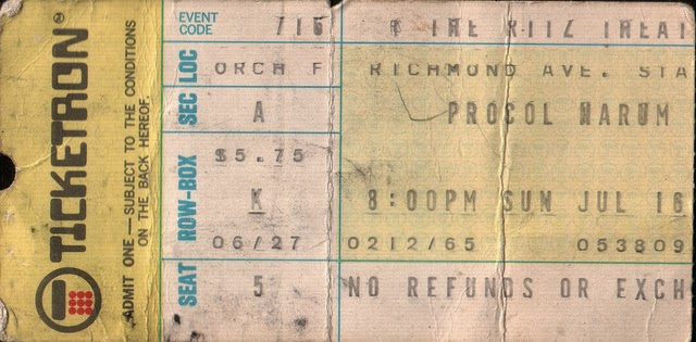 The Ritz Theater Staten Island, New York ticket stub