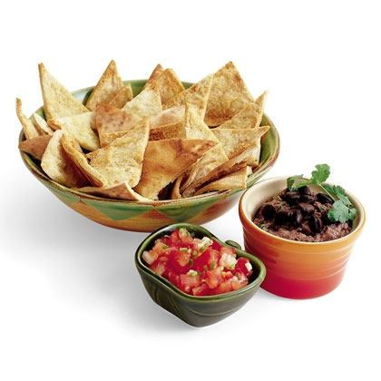 Easy Pita Chips and Mexican Black Bean Dip Recipe
