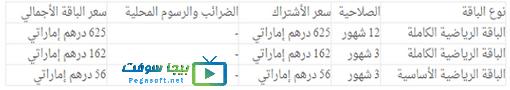سعر باقات بين سبورتس الجديدة في الإمارات