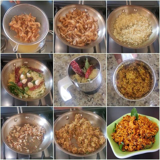 images of Dry Shrimp Chutney / Yetti Chutney / Mangalorean Style Dry Shrimp Chutney