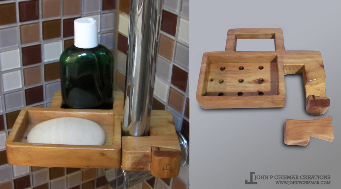 dovetail key shower soap dish