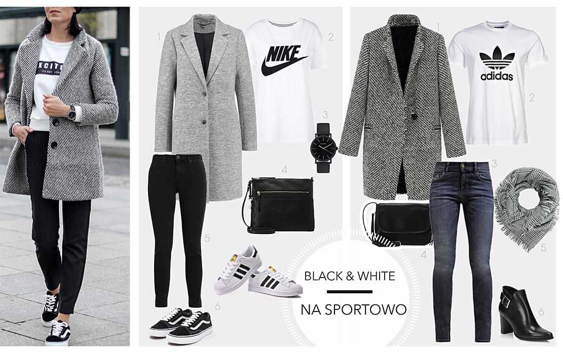 zestawy ubrań black&white 2021 2022, jak nosić
