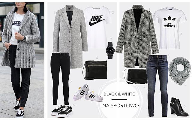 zestawy ubrań black&white 2018, jak nosić