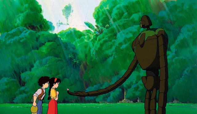 Fotograma de la película de animación de Studio Ghibli, El Castillo en el Cielo