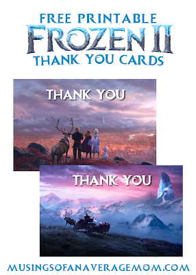 Frozen 2 Thank you cards