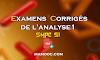 Examens et contrôles corrigés de Analyse 1 SMPC s1 PDF