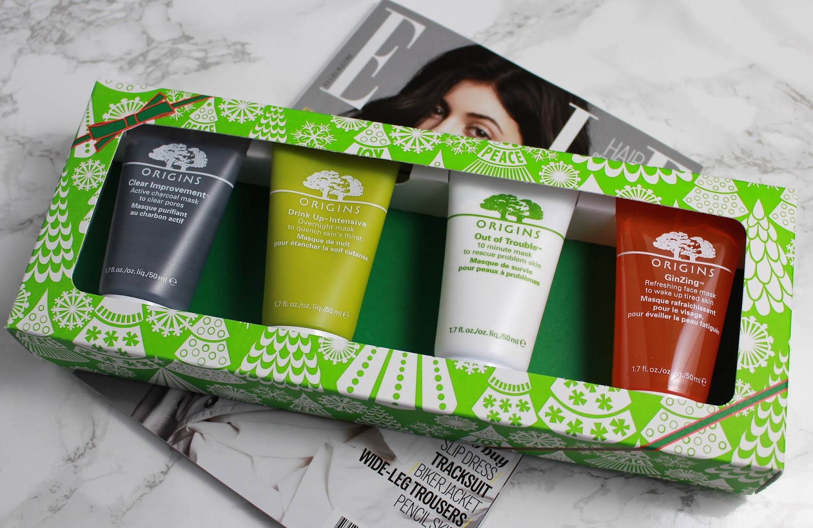 Origins Clear Improvement, Origins Face Mask Review, Origins Drink Up-Intensive Mask, Origins Out of Trouble Mask, Origins Ginzing Mask