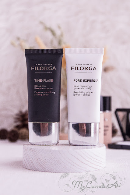 Preabase matificante Pore-Express y prebase alisadora Time-Flash de Filorga