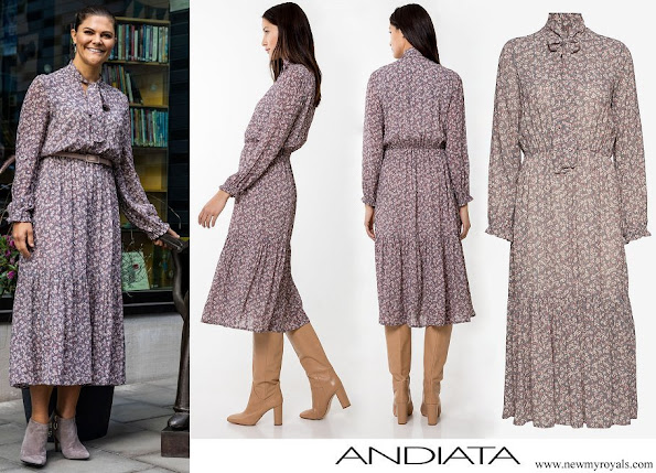 Crown Princess Victoria wore Andiata Pattriina Long Dress