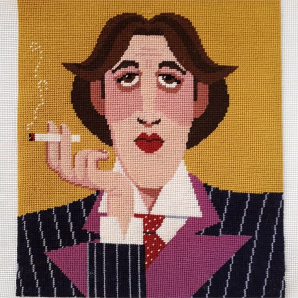 Oscar Wilde Portrait Cross Stitch Design