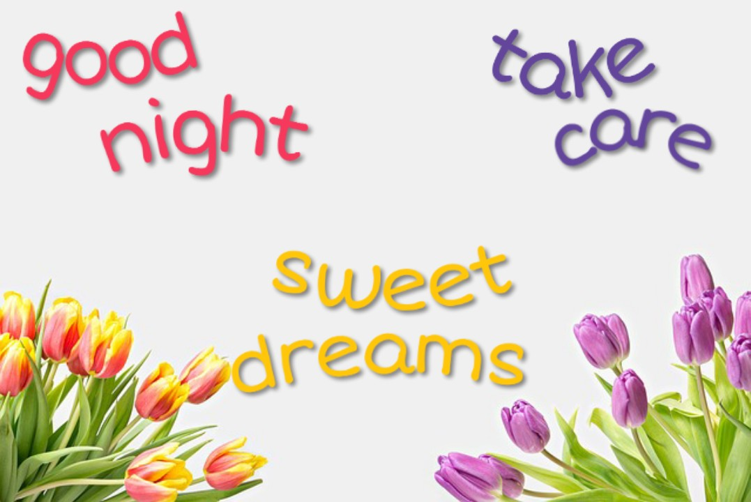 good night images for whatsapp free download with flowers