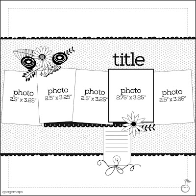 free paper crafting scrapbook layout sketch challenge