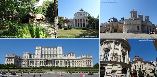 Viaje a Rumanía: Bucarest. Museo de la aldea, ateneo, patriarquía, edificio del pueblo y edificios del centro histórico de Bucarest