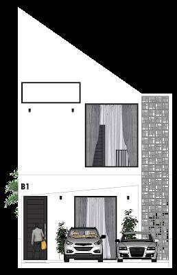 Desain Rumah 2 Lantai di Tanah Memanjang - Griya Bagus