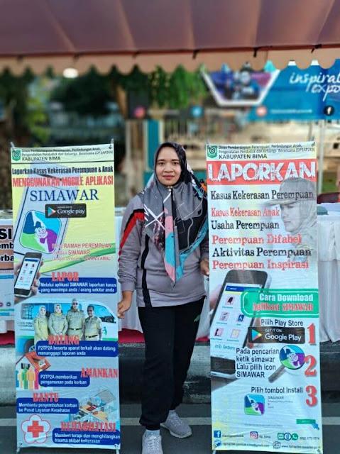 Kepala Bidang Pemberdayaan Perempuan DP3AP2KB Kabupaten Bima Laily Ramdani S. STP