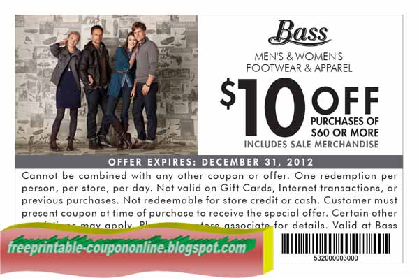 Bass shoes coupons 2018