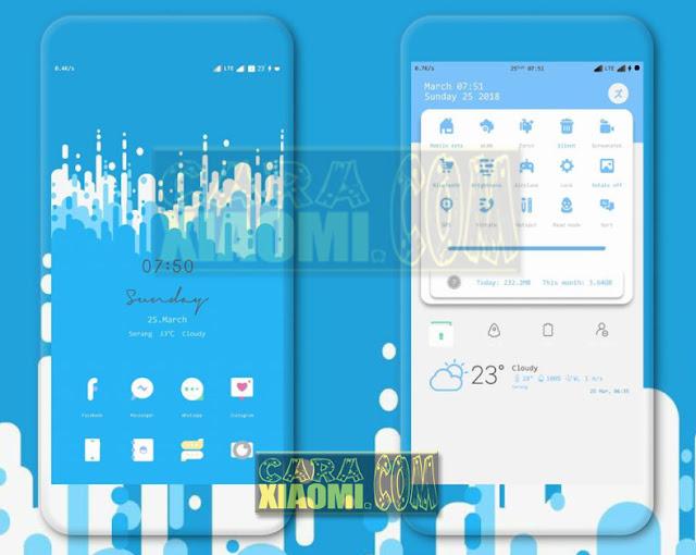 Tema Xiaomi Sour V2 Update Blue Edition Interface For MIUI V9 / V8 Terbaru